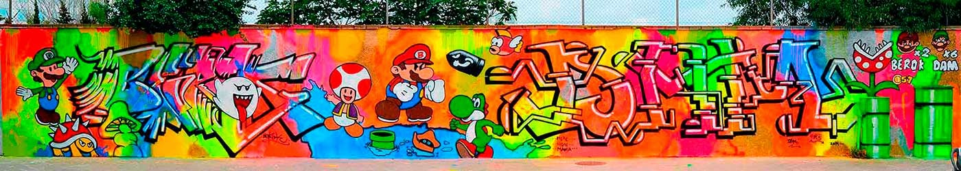 Super Mario Bros graffiti