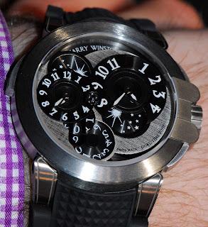 Cadran Harry Winston Ocean Dual Time Monochrome Zalium