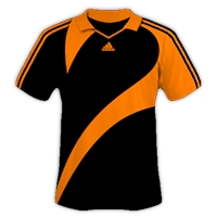 Desain Jersey Gratis Sepakbola dan futsal hitam orange