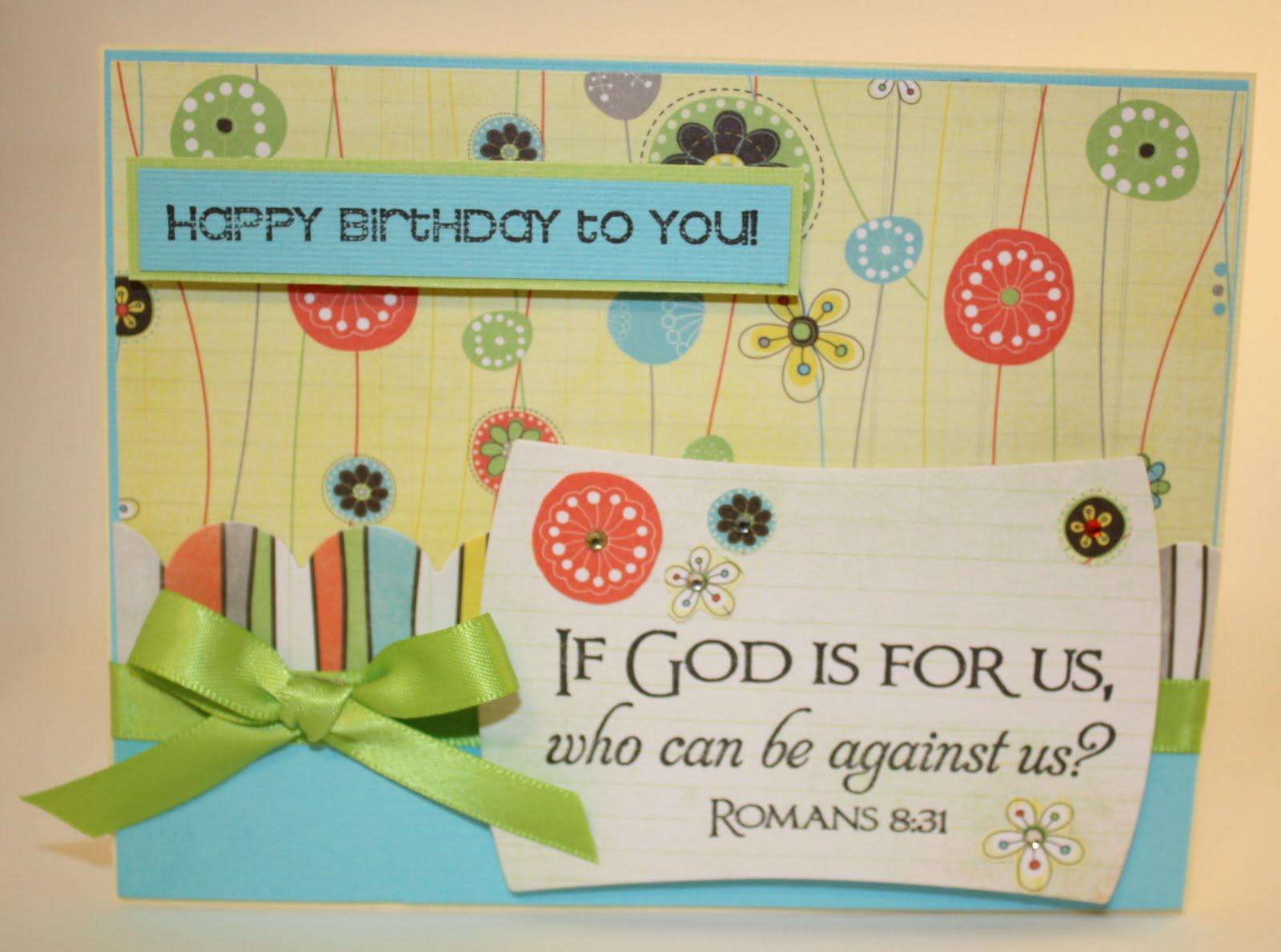 Christian Birthday Card gangcraftnet – Birthday Card Christian