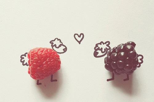 Ovelhinhas com amoras