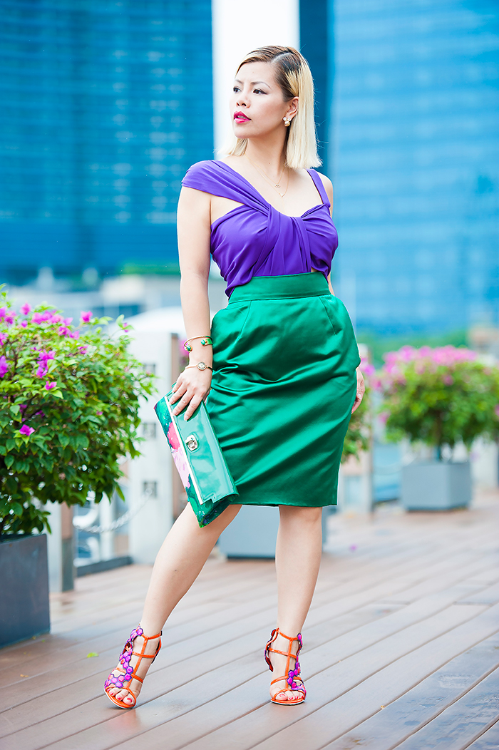 Crystal Phuong in Gucci Color Block Dress Spring 2011 Ready-To-Wear collection