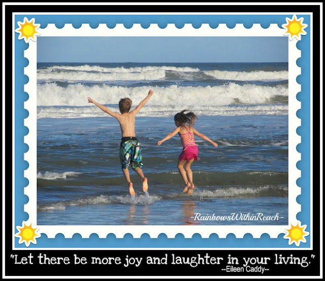 photo of: Children at the Ocean with laughter quote from RainbowsWithinReach