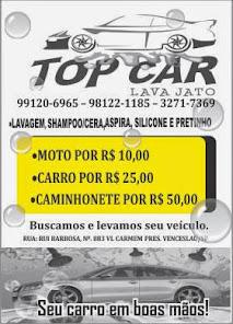 Top Car, Fone:98122-1185 99120-6965