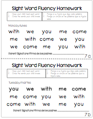 literacy homework ideas for kindergarten