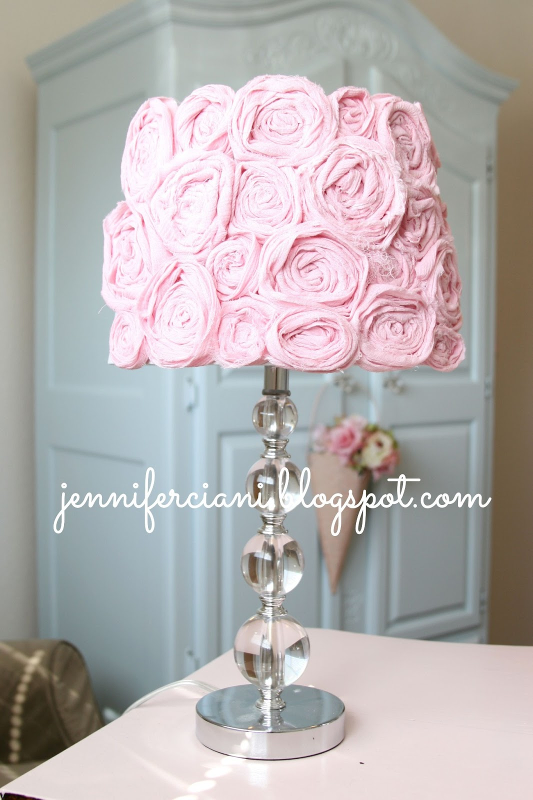 simply ciani shabby chic lamp shade. Black Bedroom Furniture Sets. Home Design Ideas
