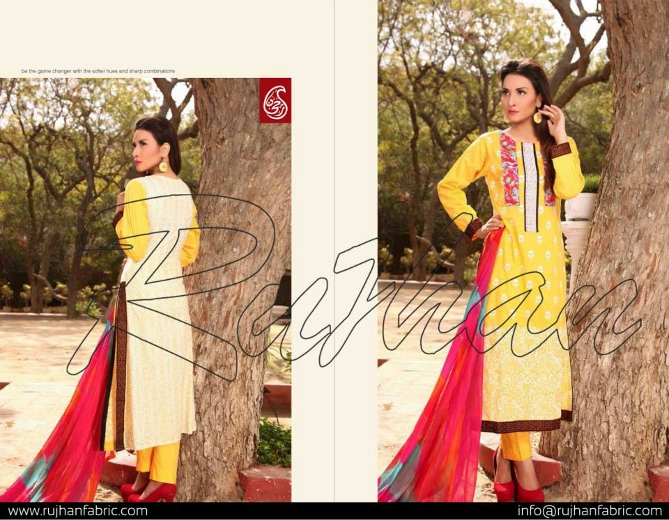 Latest pakistani rujhan lawn 2015