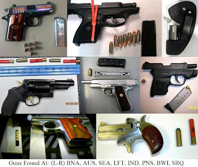 8 loaded firearms. 