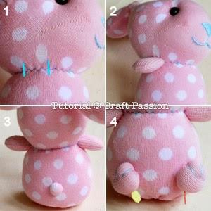 Кролик из детского носочка
