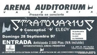 entada de concierto de stratovarius