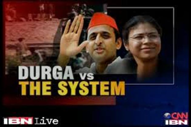 National debate  controversial suspension over  IAS officer Durga