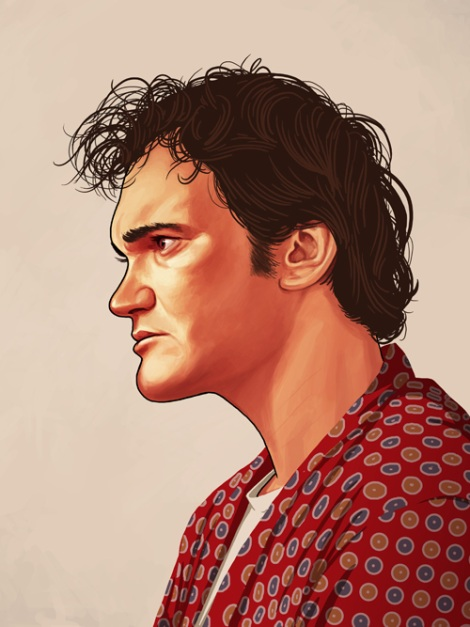 Quentin Tarantino by Mike Mitchell