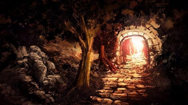 Túnel hacia la Playa de las Calaveras