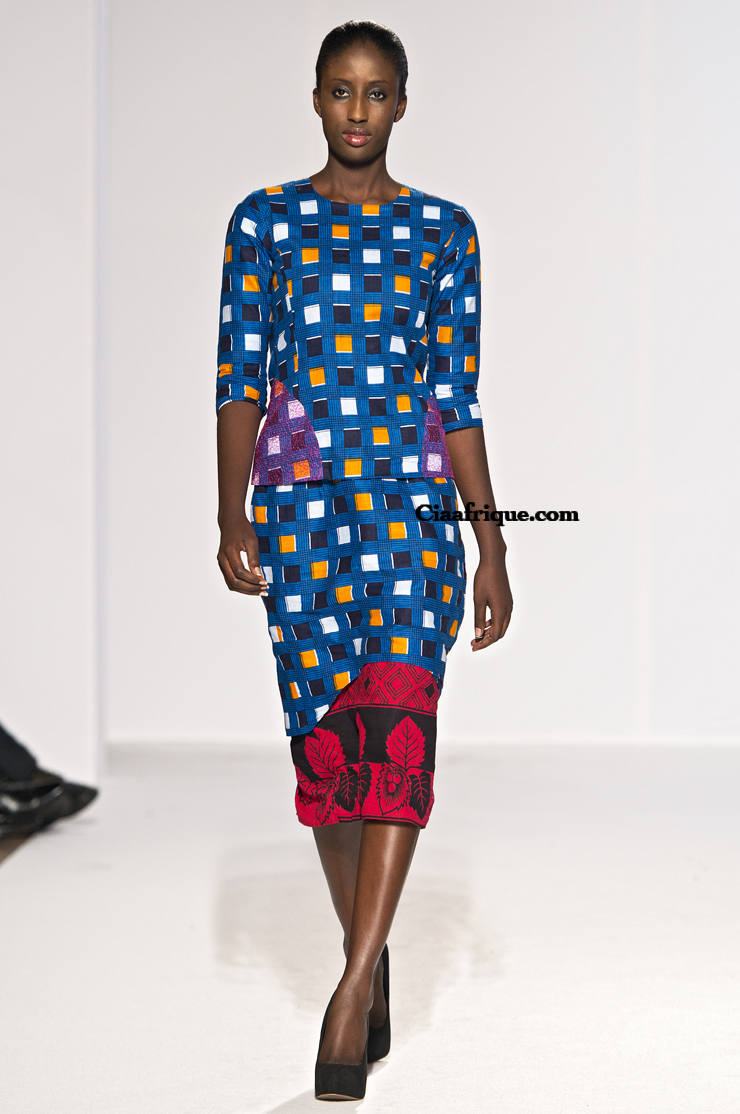 Labo-ethnik 2012:Chichia london-African fashion style kitenge-khanga dress