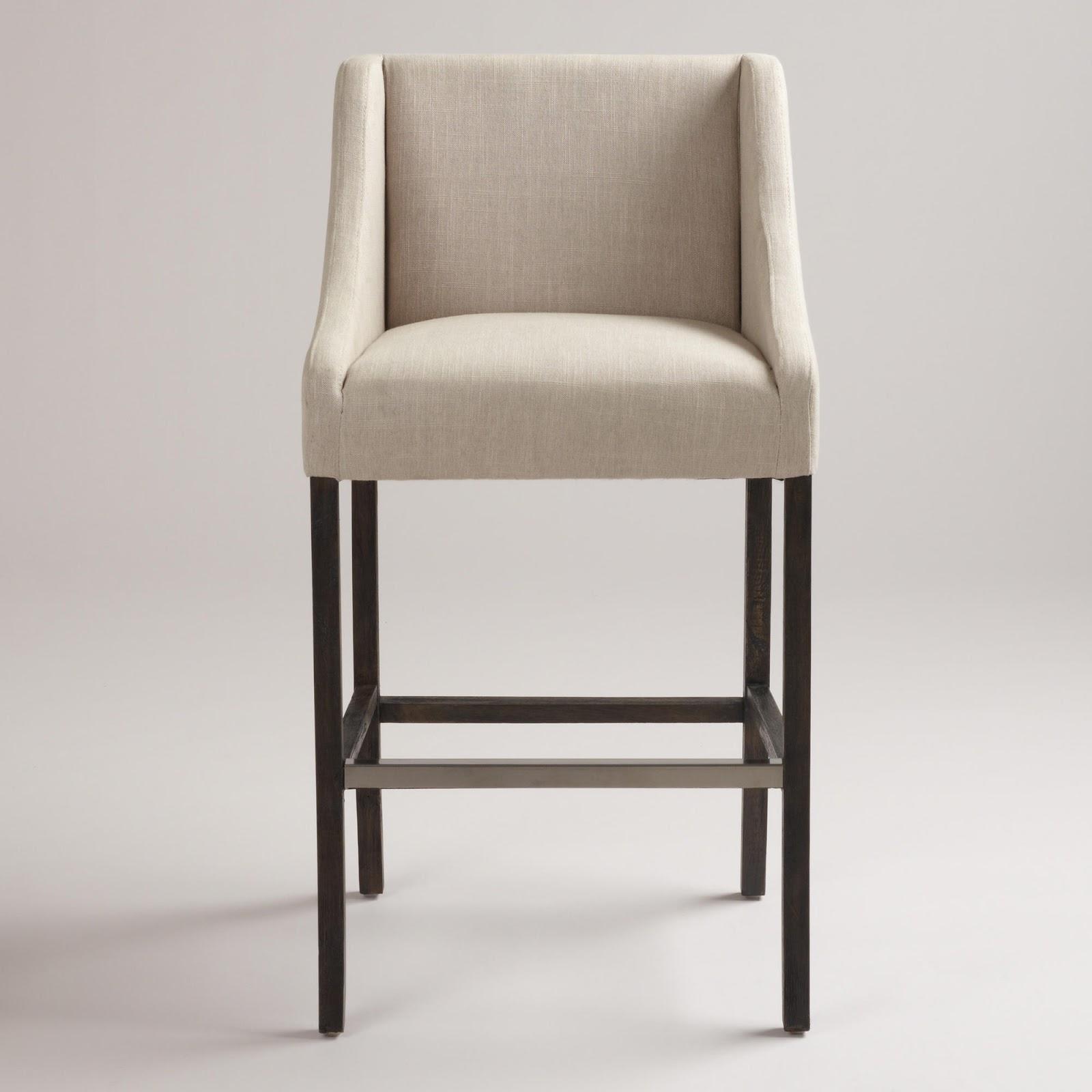 French upholstered barrelback counter stool decor look alikes