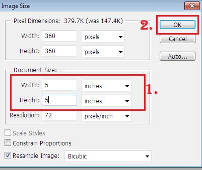 how to change the size of an photo in photoshop