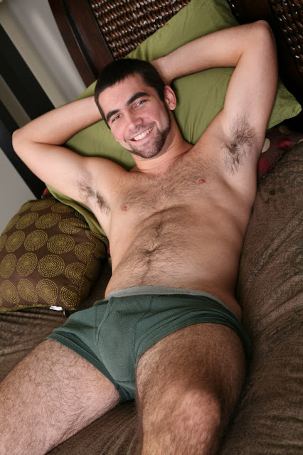 Hairy Hunk Tucker in his underpants