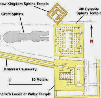 Plan of the Sphinx with the Old and New Kingdom Sphinx temples