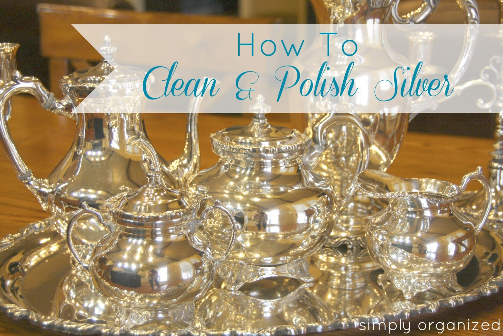 simply organized pinterest challenge how to clean silver. Black Bedroom Furniture Sets. Home Design Ideas