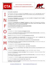 C.T.A. INFORMA, LO REALIZADO EN JUNIO DE 2019