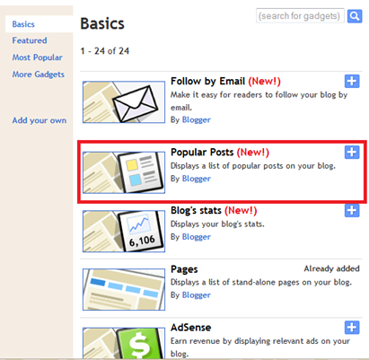 How To Add Custom Popular Post Widget In Blogger