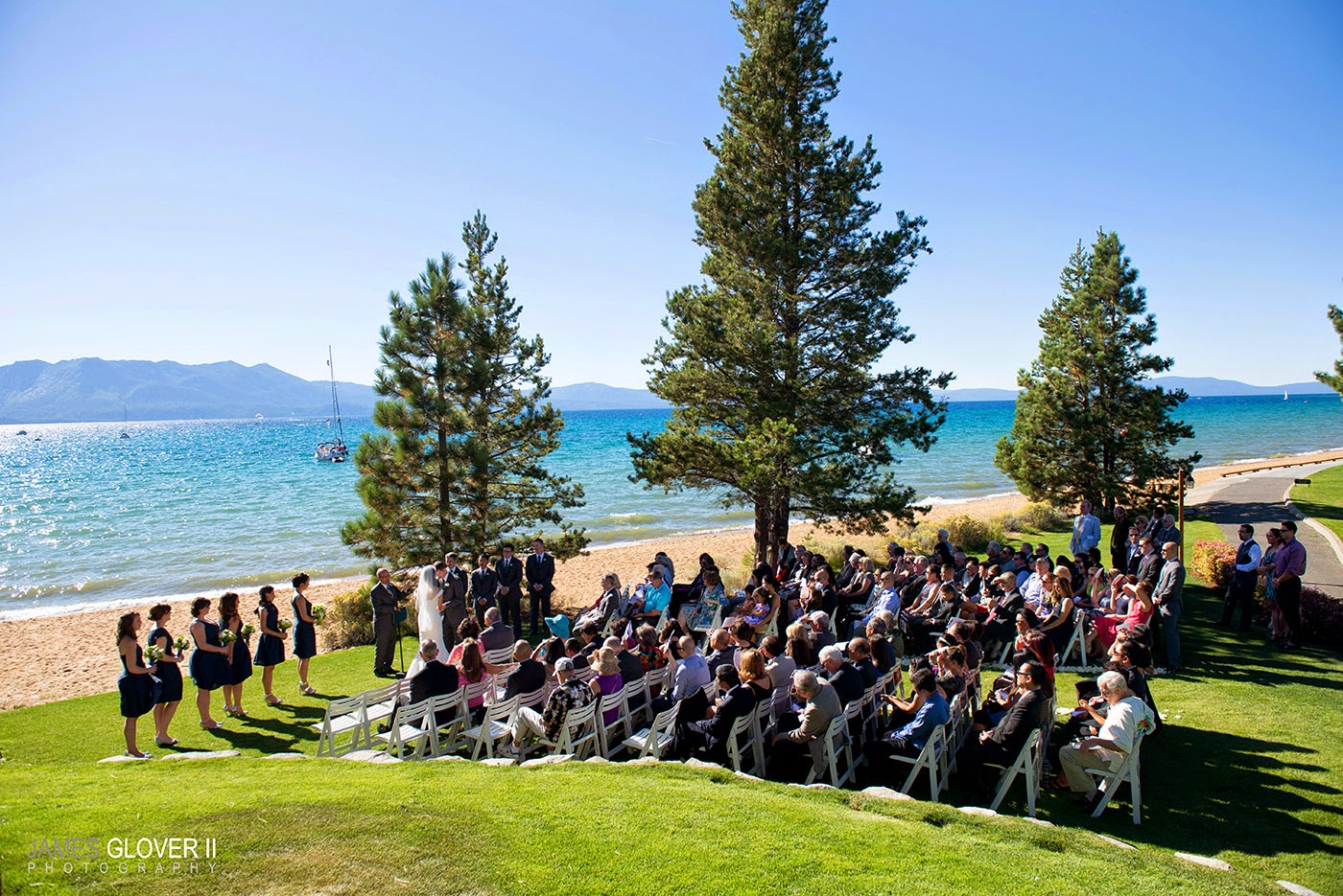 Edgewood Lake Tahoe Outdoor Wedding Ceremony | James Glover Photography | Take the Cake Events
