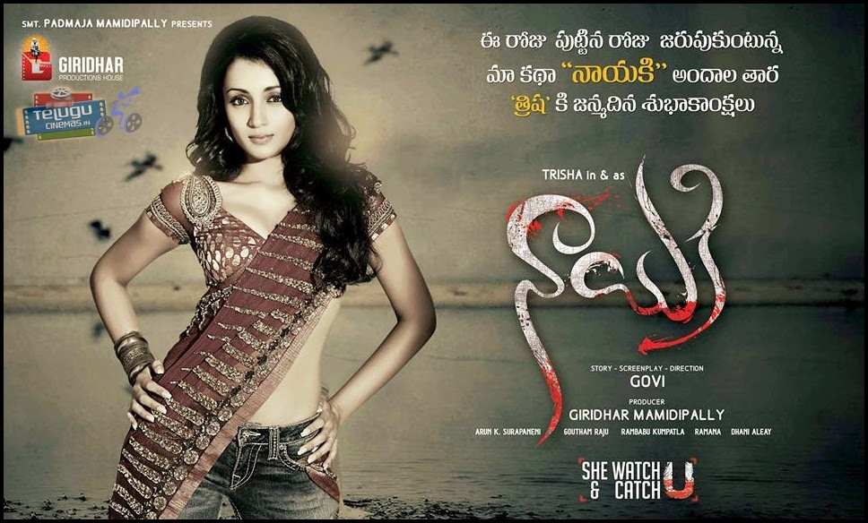 Trisha New Movie Nayaki posters-Trisha Birthday