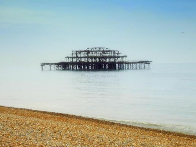 Skeleton of West Pier, Brighton, UK