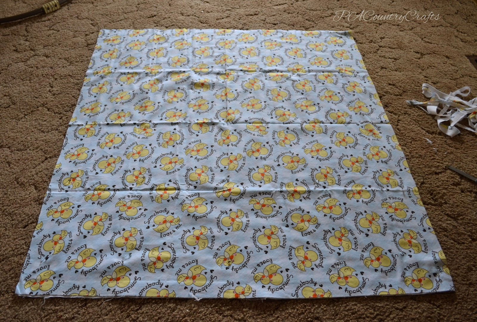 Flannel Rag Edge Baby Blanket Tutorial