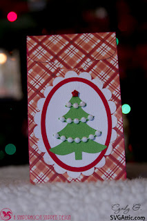 Treat bag with Christmas tree