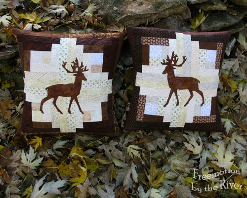 Deer pillows at Freemotion by the River