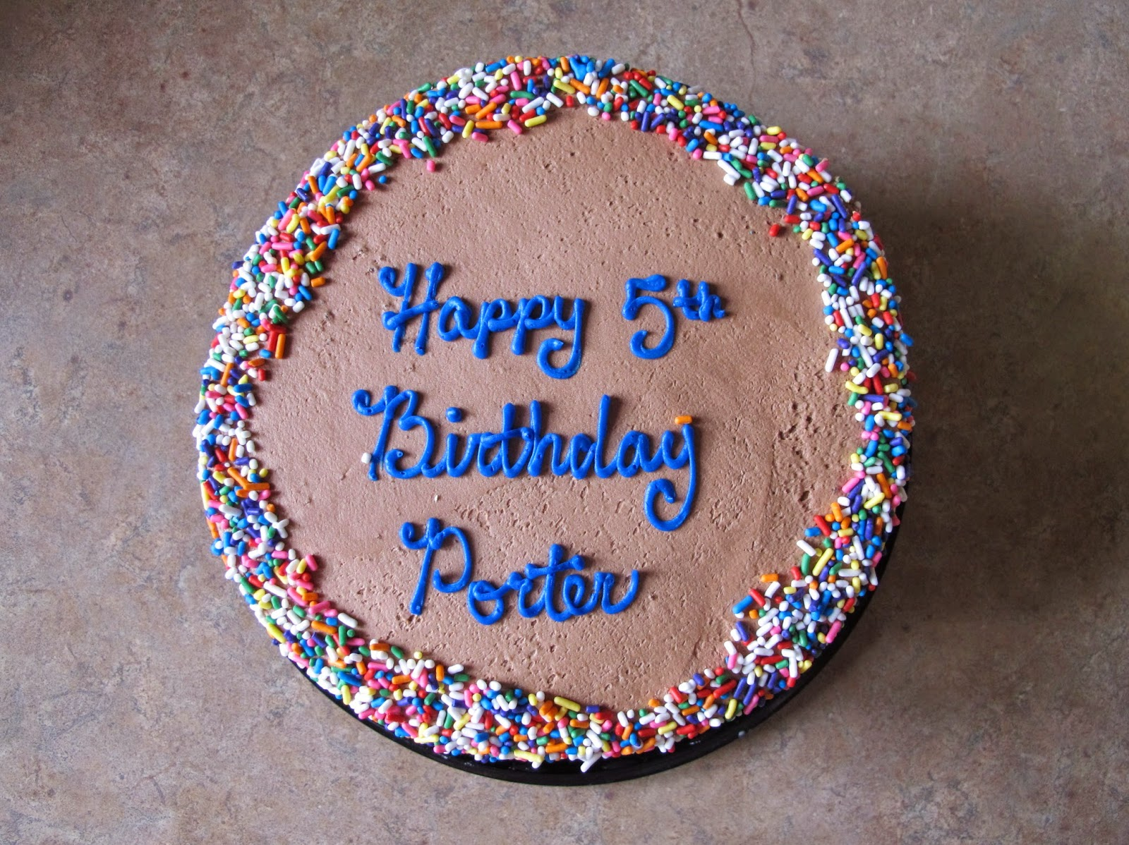 Porter's 5th Birthday Cake