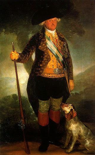 Carlos  IV vestido de cazador del artista Francisco de Goya de España
