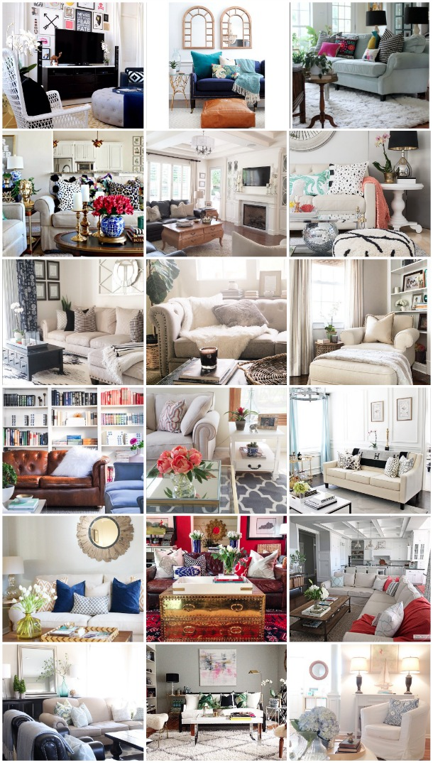 20 Beautifully Decorated Real Life Living Rooms - Jeanne Campana Designs
