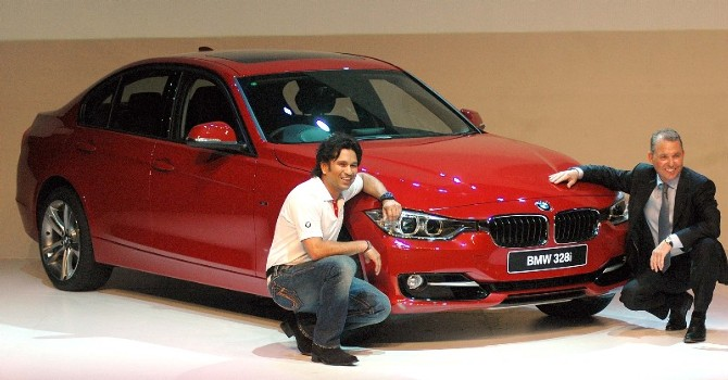 Sachin Tendulkar launches BMW 3 Series Car in India photos