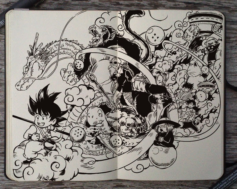 20-Dragon-Ball-Gabriel-Picolo-365-Days-of-Doodles-end-of-2014-www-designstack-co