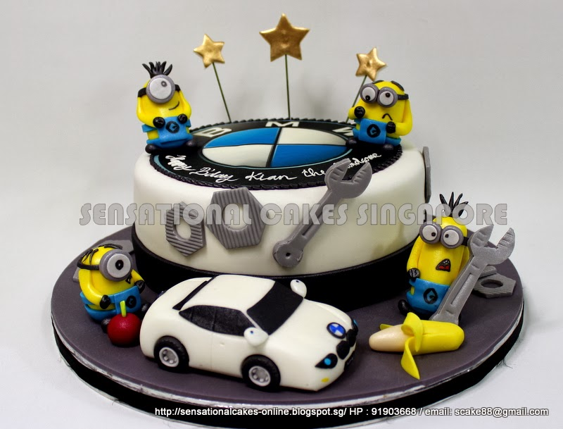 The Sensational Cakes A WHITE BMW 5 SERIES CAKE SINGAPORE PLAYING