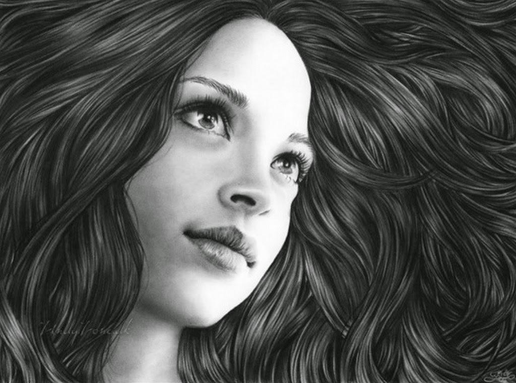 rostros-femeninos-dibujos-a-lapiz
