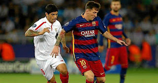 Messi Banega Supercopa
