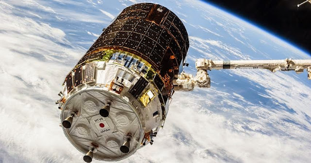HTV-4 spacecraft docked to the ISS. Credit: NASA/JAXA