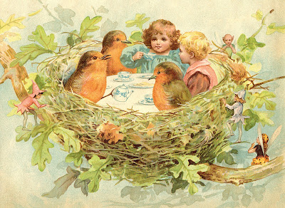 Royalty Free Image Nest Tea Party