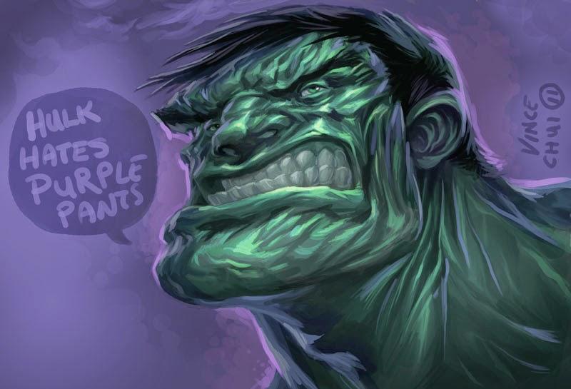 illustration de Vince Chui représentant le visage de Hulk