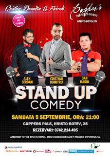 Stand-Up Comedy Sambata Bucuresti 5 Septembrie