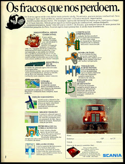 Scania anos 70; scania truck; caminhão decada de 70;  brazilian advertising cars in the 70. os anos 70. história da década de 70; Brazil in the 70s; propaganda carros anos 70; Oswaldo Hernandez;