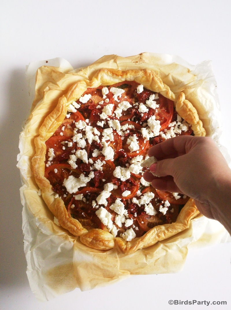 Super Easy Pesto, Tomato & Feta Tart Recipe