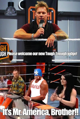 hogan in costume, hogan as mr. america, hogan tough enough judge