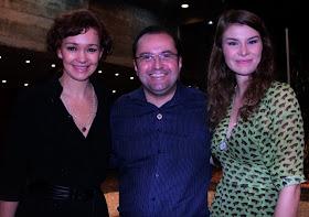 Antonio Carlos Gomes e Júlia Lemmertz e Luiza Lemmertz