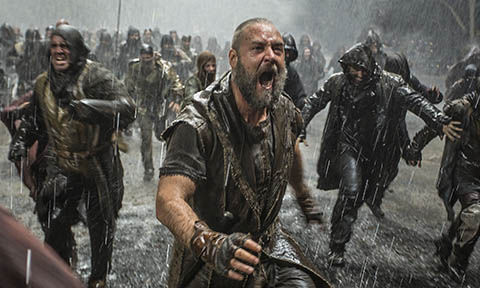 Russell Crowe fighting in Noah
