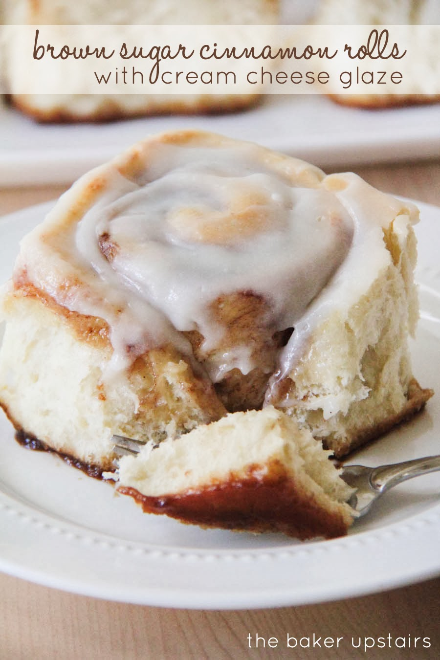the baker upstairs: brown sugar cinnamon rolls with cream cheese glaze