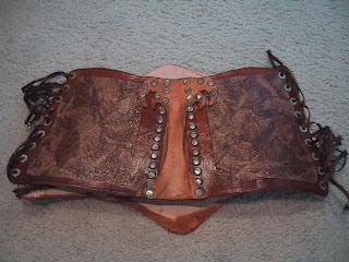 Woods leather corset